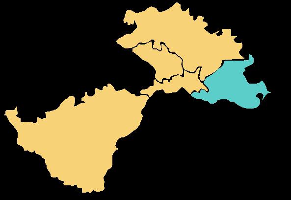Karta područja Lag Una - Hrvatska Dubica