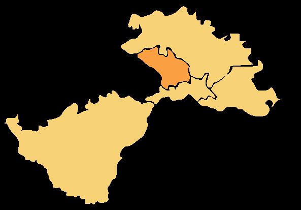 Karta područja Lag Una - Općina Majur