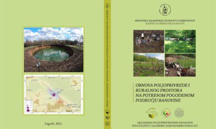 """Predstavljanje studijskog rada """"Obnova poljoprivrede i ruralnog prostora na potresom pogođenom području Banovine"""""""